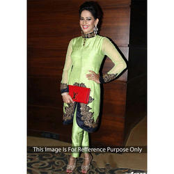 The RCPC Designer Ethnic Green Silk Dress
