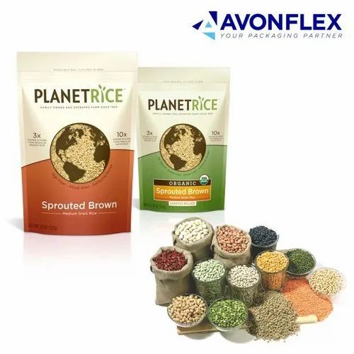 Printed Laminated Pulses And Cereal Packaging Pouch