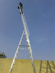 A TYPE FOLDING  LADDER WITH EXTENDABLE