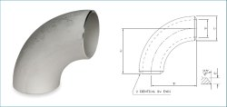 Stainless Steel 5D Elbow