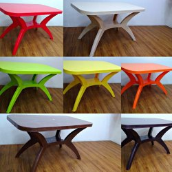 Plastic Dining Table Or Restaurant Table Colorful