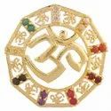 Zircon Studded OM Shape Pendants