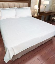White Plain Double Bed Sheet