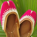 Pink Designer Punjabi Jutti