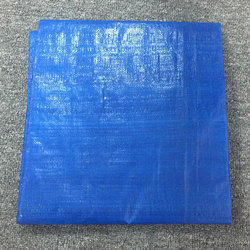蓝色s.m hdpe篷布床单,用于封面