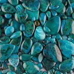 Blue Natural Chrysocolla Cabochon Stone