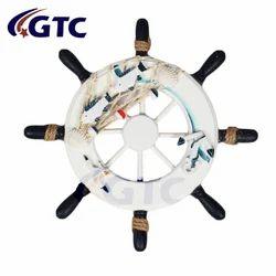 Nautical Wall Marine Decor Wood Pirate Ship Helm Wheel (A2013)
