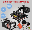 Semi-automatic 5 In 1 Heat Press Machine