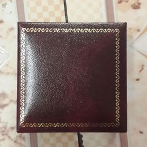 Brown Leather Ring Box