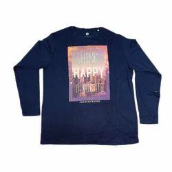 Printed Blue T Shirt