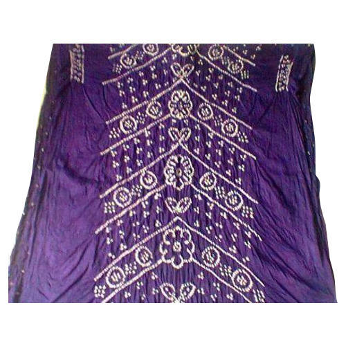 bb7e546407 Cotton Purple Ladies Bandhani Unstitched Suit