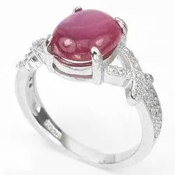 Ruby Ring with Natural Manik Stone