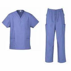 Blue Poly Cotton Ward Boy Uniform