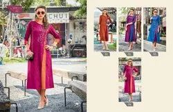 100 Miles - Cotton Embroidered Straight Kurtis