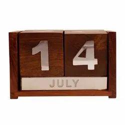 English Wooden Date Calendar