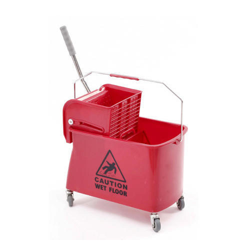 Red Single Bucket Mop Wringer Trolley Rs 3000 Piece