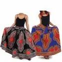 Printed Cotton African Dashiki Skirt Fabric For Female