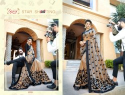 Saroj Photography Series 300001-300006 Stylish Party Wear Vichitra Silk Saree