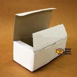 7 x 3.3 x 2.5 Inch White Corrugated Box
