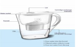 Watemate Puro ACFT, 2.6 LTR Activated Carbon Water Filter Jug/Pitcher