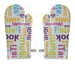 Letter Printed Kitchen Glove