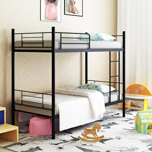 "Camabeds 78""(l) X 36""(w) Stooreys Modern Bunk Bed with 5'  Foam Mattress (Black)"