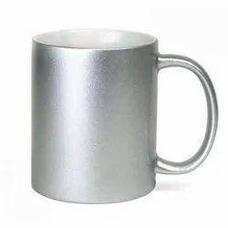Skymy Ceramic Silver Color Mug