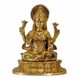 Brass Polished Laxmi Statue