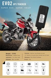 EV02 GPS Tracker For Bike Car and Truck, Screen Size: 4.3 inch