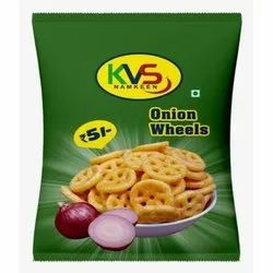 Round Salty Fried Onion Wheels, Packaging Size: 18 Gram, Packaging Type: Packet