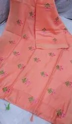 Embroidered Floral Linen Sarees