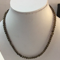 Natural Smoky Quartz Faceted Rondelle Beads Necklace