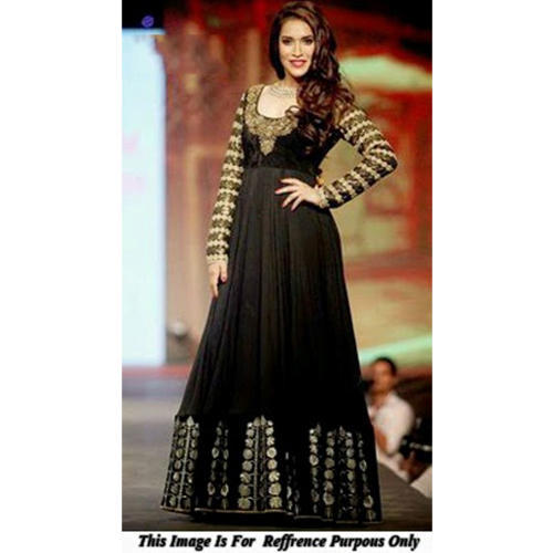 40024fc45f The RCPC Designer Ethnic Black Georgette Gown at Rs 3349 /piece ...