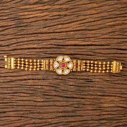 Matte Gold Plated Antique South Indian Bracelet 203525