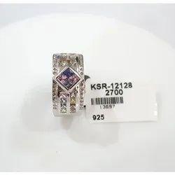 Designer 925 Sterling Silver Sapphire Ring