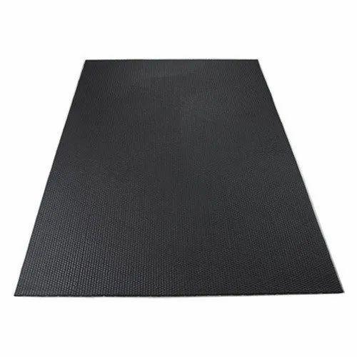 Black Rubber Cow Mat