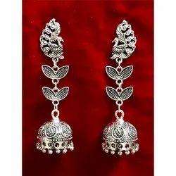 Silver Oxidized Earrings