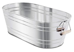 Stainless Steel Ribbed Beverage Party Tub