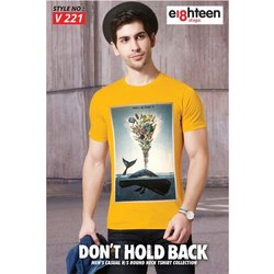 eighteen Hosiery Mens Yellow T Shirts, Size: Large