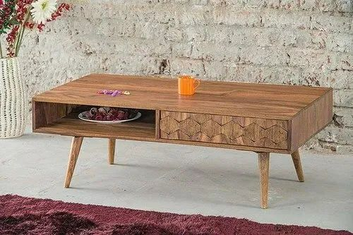 Standard Wooden Cofee Table Size Dimension 110 60 40 Cms Rs 8999 Piece Id 20682695788