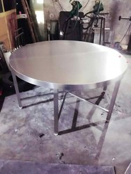 St. Steel Round Dining Table
