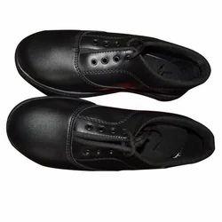 Lace Up Black Plain School Shoes