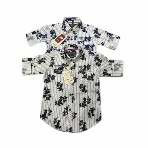 Cotton Festive Wear Kids Printed Shirt, Packaging Type: Packet