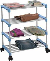 SBI Four Shelves PVC Cloth Rack