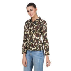 Printed Medium And XL Ladies Army Print Shirt