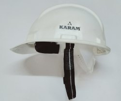 Safety Helmet Nape Strap White