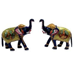 Multicolor Meena Painted Elephant, for Promotional Use