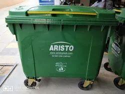 Aristo Plastic Garbage Waste Dustbin 660 Ltr  4 Wheeled