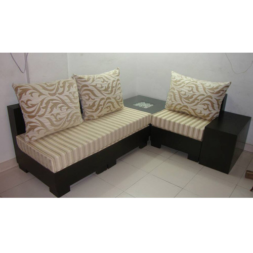 Wooden 3 Seat Corner Sofa Set