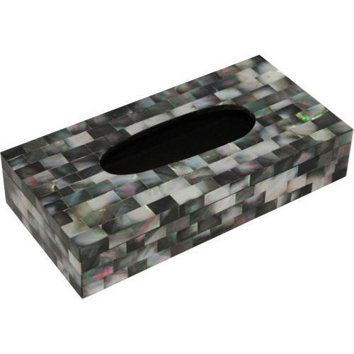 Black Mop Tissue Box